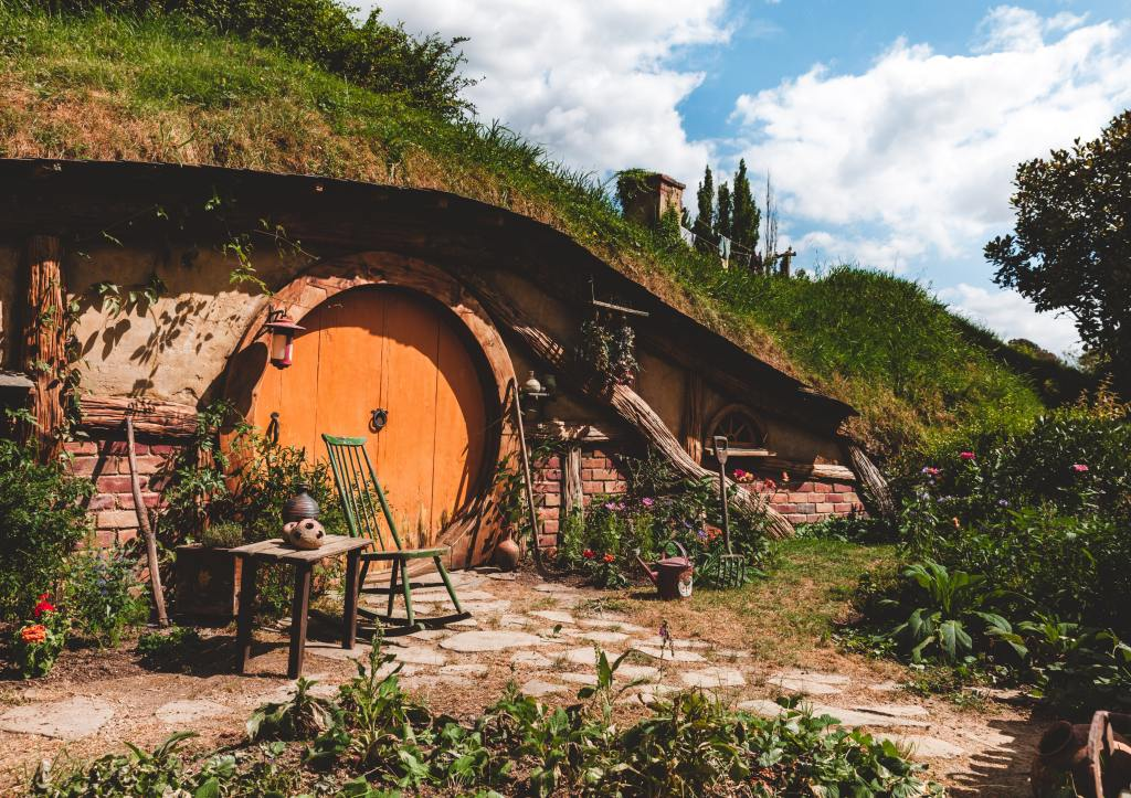 An underground hobbit house. Would eco-living force us to live an ascetic life?